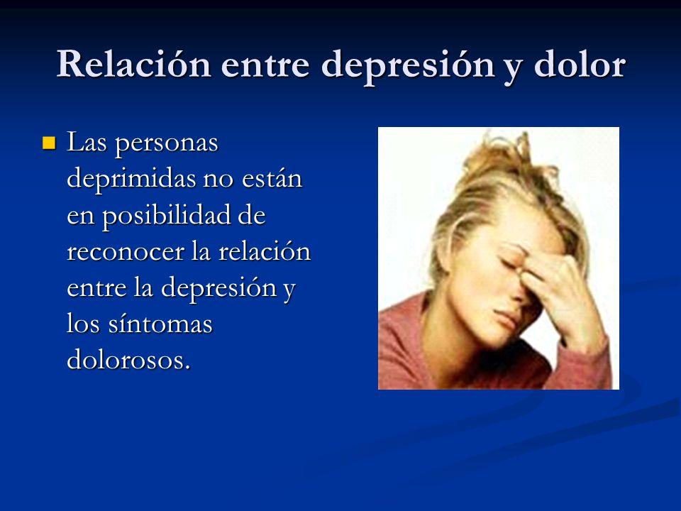 Relación entre depresión y dolor