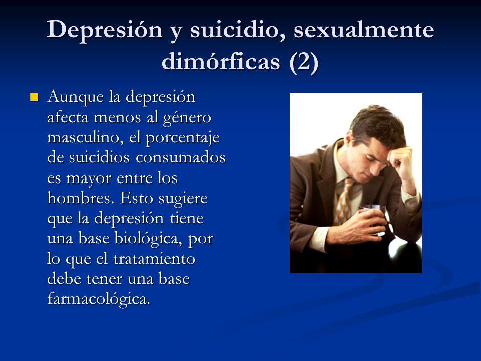 Depresión y suicidio, sexualmente dimórficas (2)