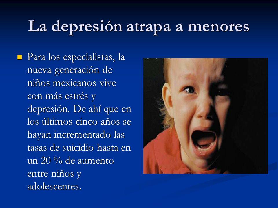 La depresión atrapa a menores