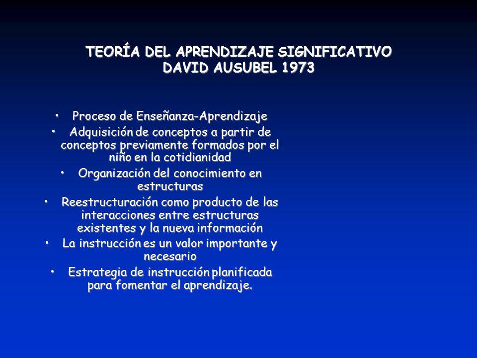 TEORÍA DEL APRENDIZAJE SIGNIFICATIVO DAVID AUSUBEL 1973