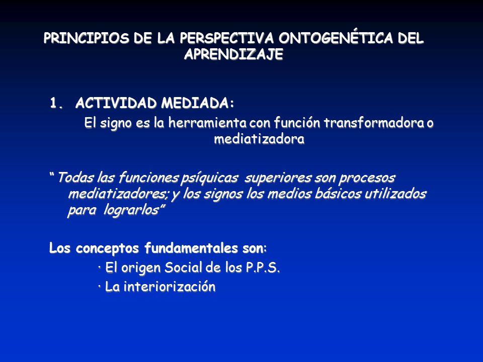 PRINCIPIOS DE LA PERSPECTIVA ONTOGENÉTICA DEL APRENDIZAJE