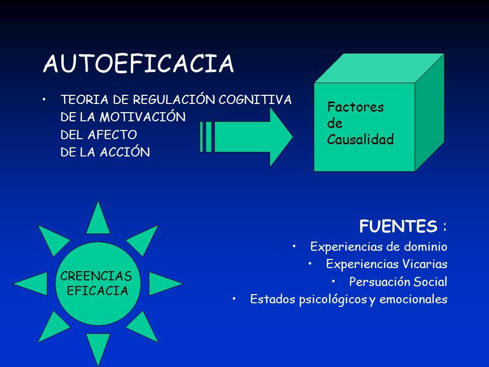 AUTOEFICACIA FUENTES : Factores de Causalidad