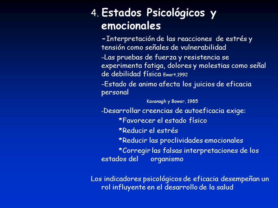 4. Estados Psicológicos y emocionales