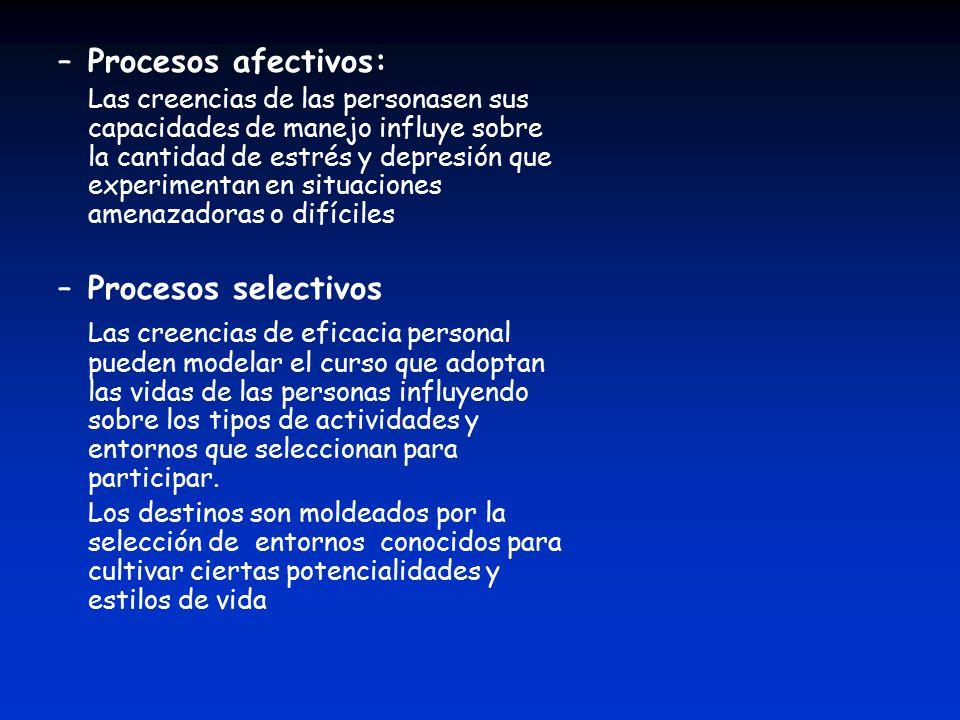 Procesos afectivos: Procesos selectivos