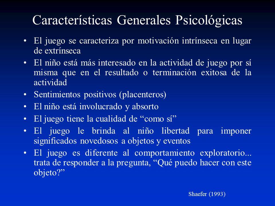Características Generales Psicológicas