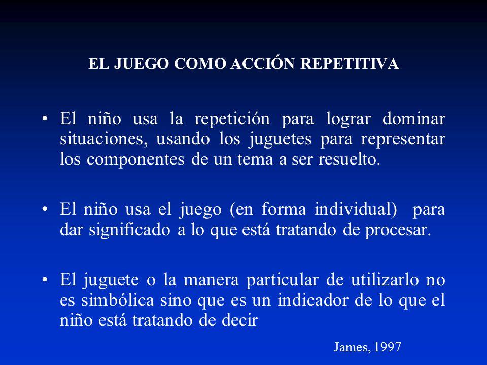EL JUEGO COMO ACCIÓN REPETITIVA