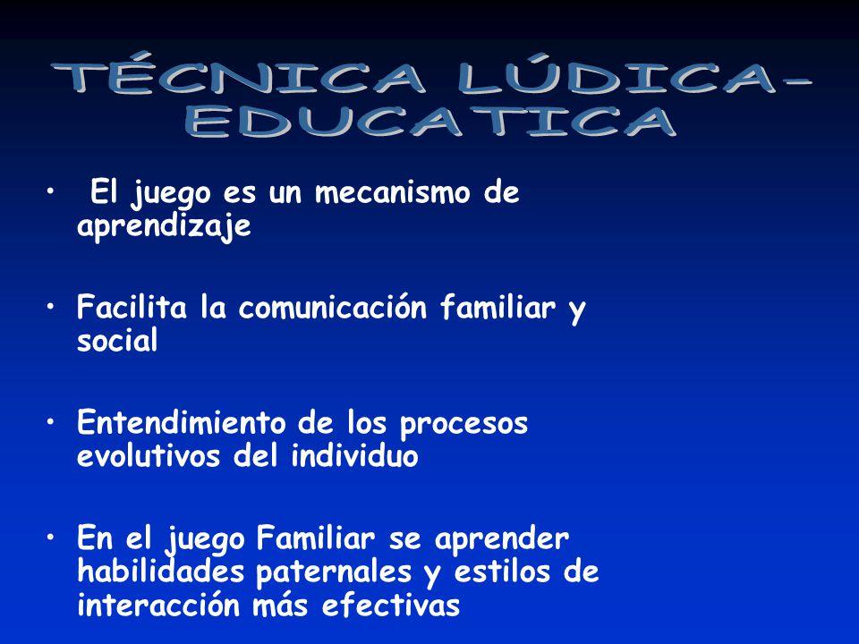 TÉCNICA LÚDICA- EDUCATICA El juego es un mecanismo de aprendizaje