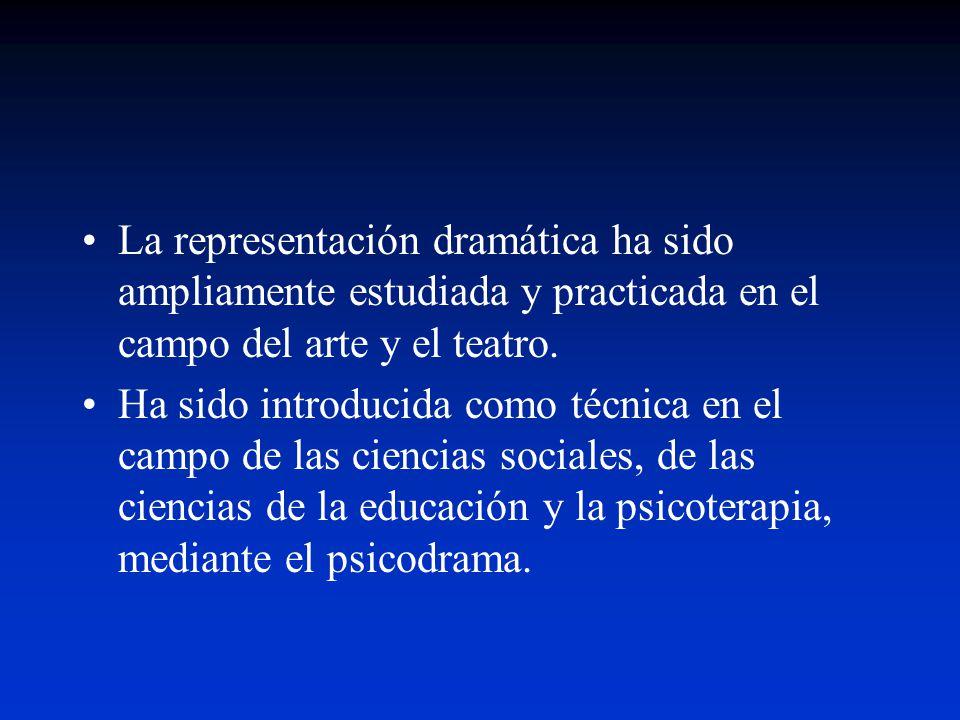 La representación dramática ha sido ampliamente estudiada y practicada en el campo del arte y el teatro.