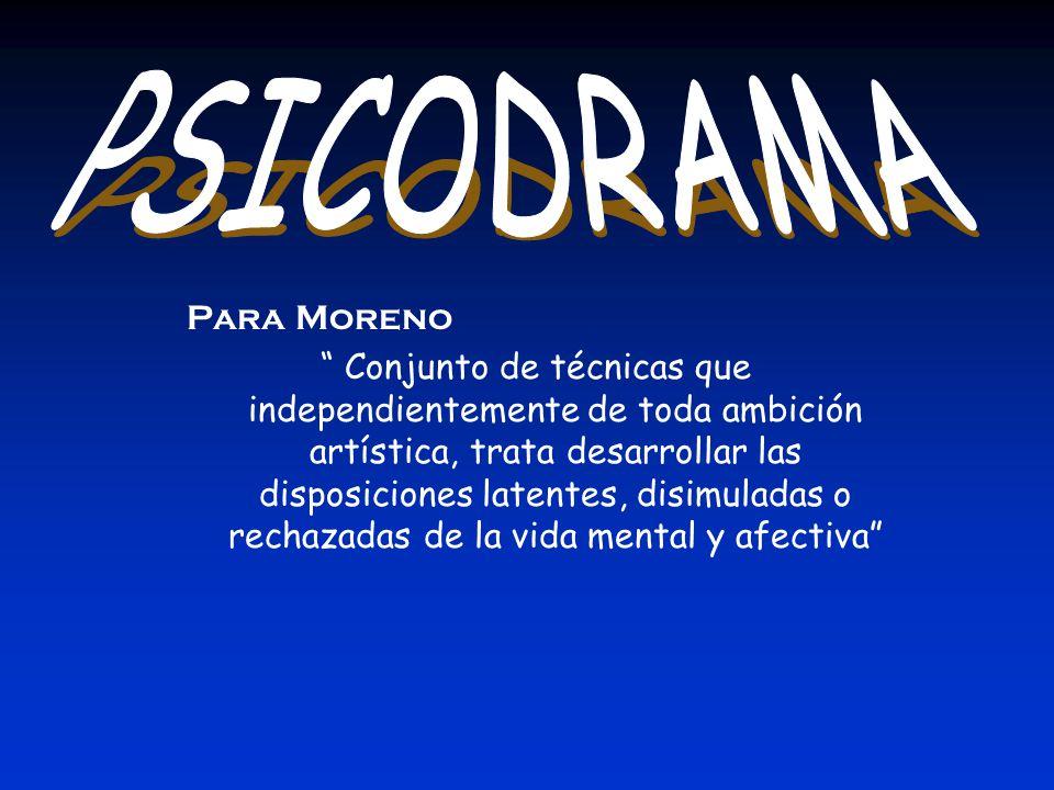 PSICODRAMA Para Moreno.