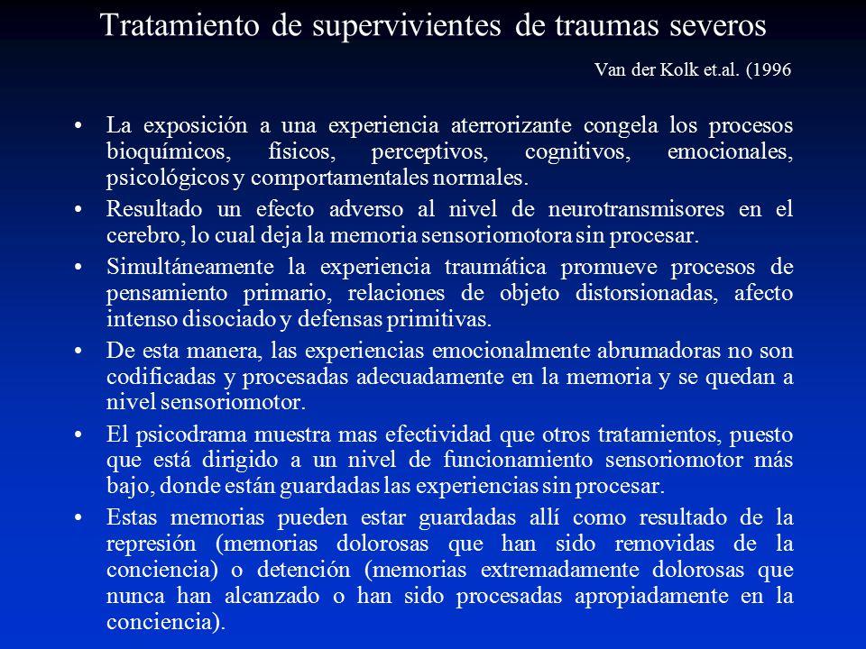 Tratamiento de supervivientes de traumas severos. Van der Kolk et. al