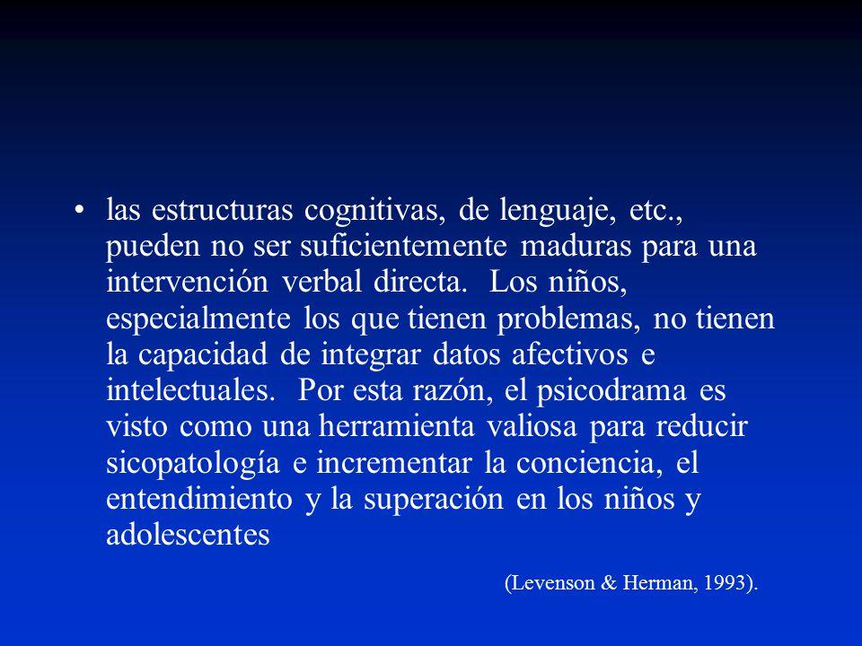 las estructuras cognitivas, de lenguaje, etc