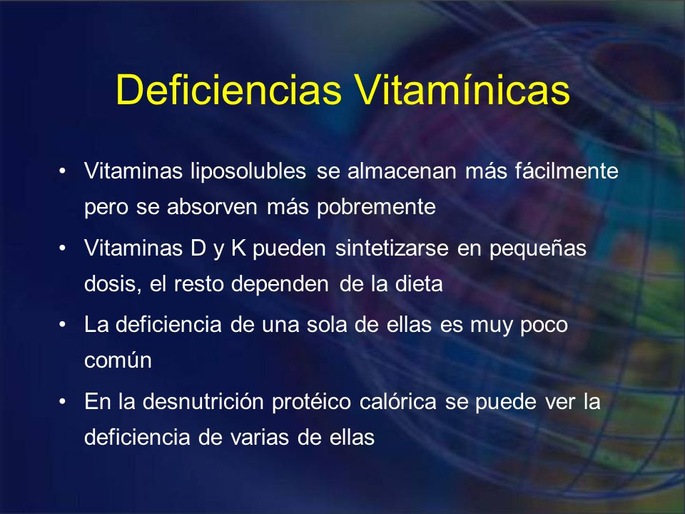 Deficiencias Vitamínicas