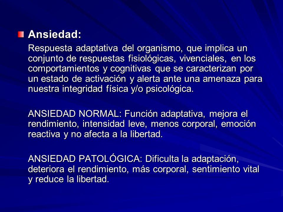 Ansiedad: