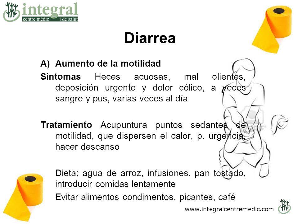 Diarrea .. S Aumento de la motilidad
