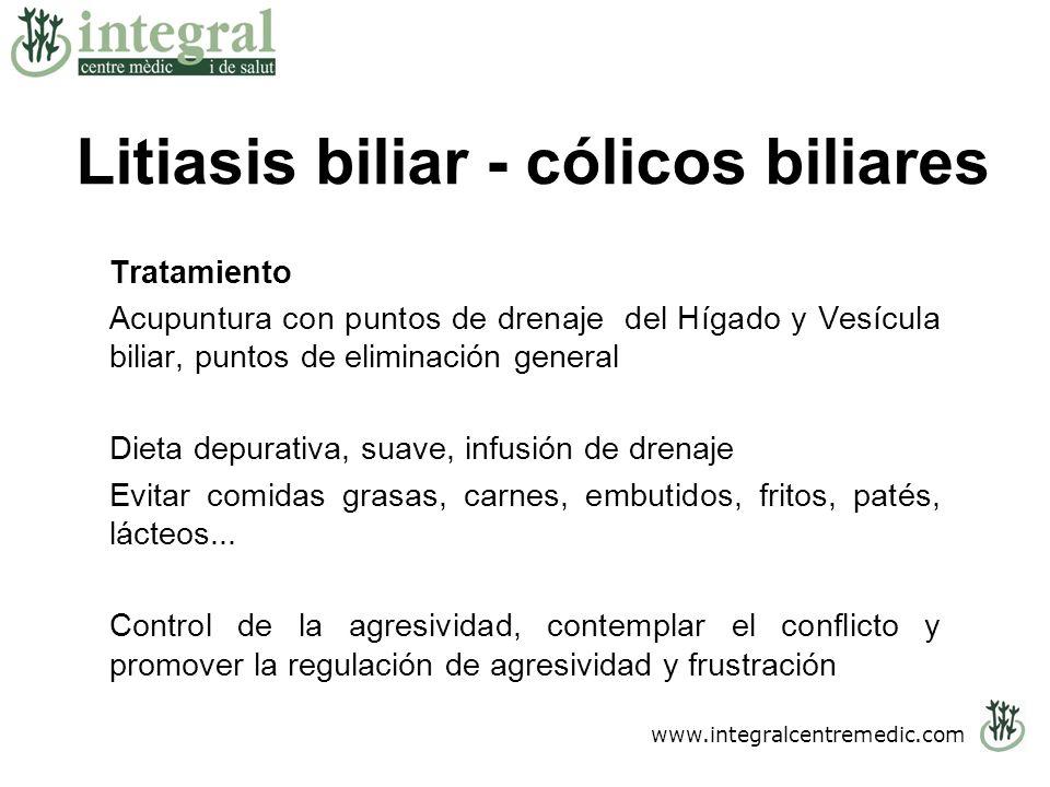 Litiasis biliar - cólicos biliares
