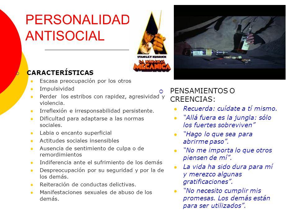 PERSONALIDAD ANTISOCIAL