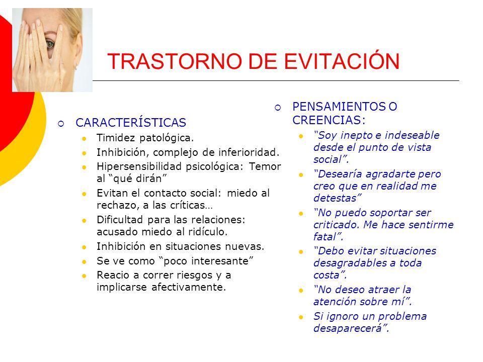 TRASTORNO DE EVITACIÓN