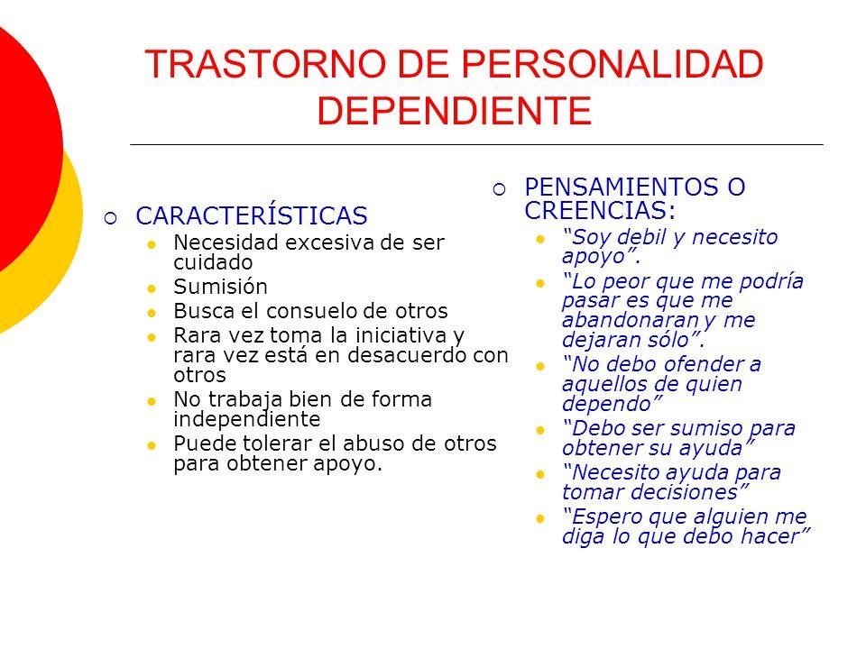 TRASTORNO DE PERSONALIDAD DEPENDIENTE