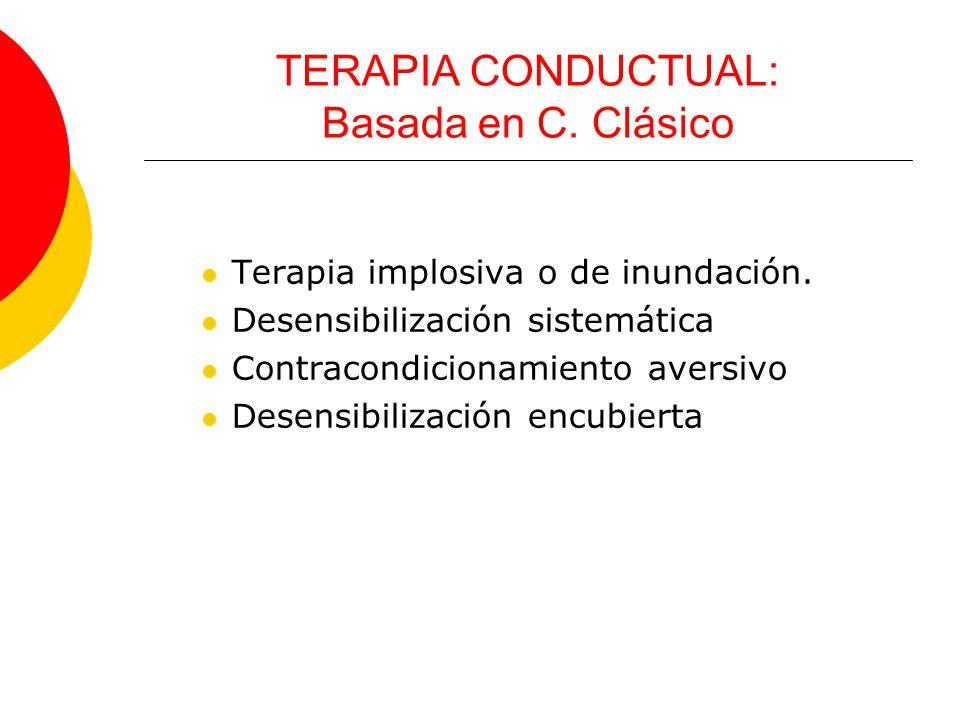 TERAPIA CONDUCTUAL: Basada en C. Clásico