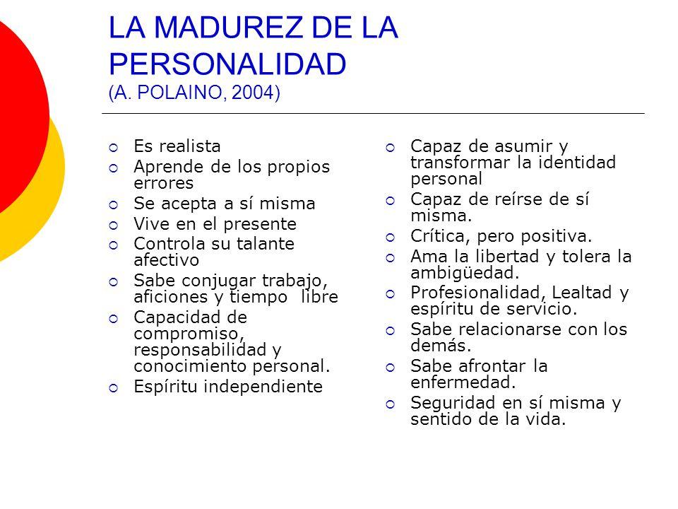 LA MADUREZ DE LA PERSONALIDAD (A. POLAINO, 2004)