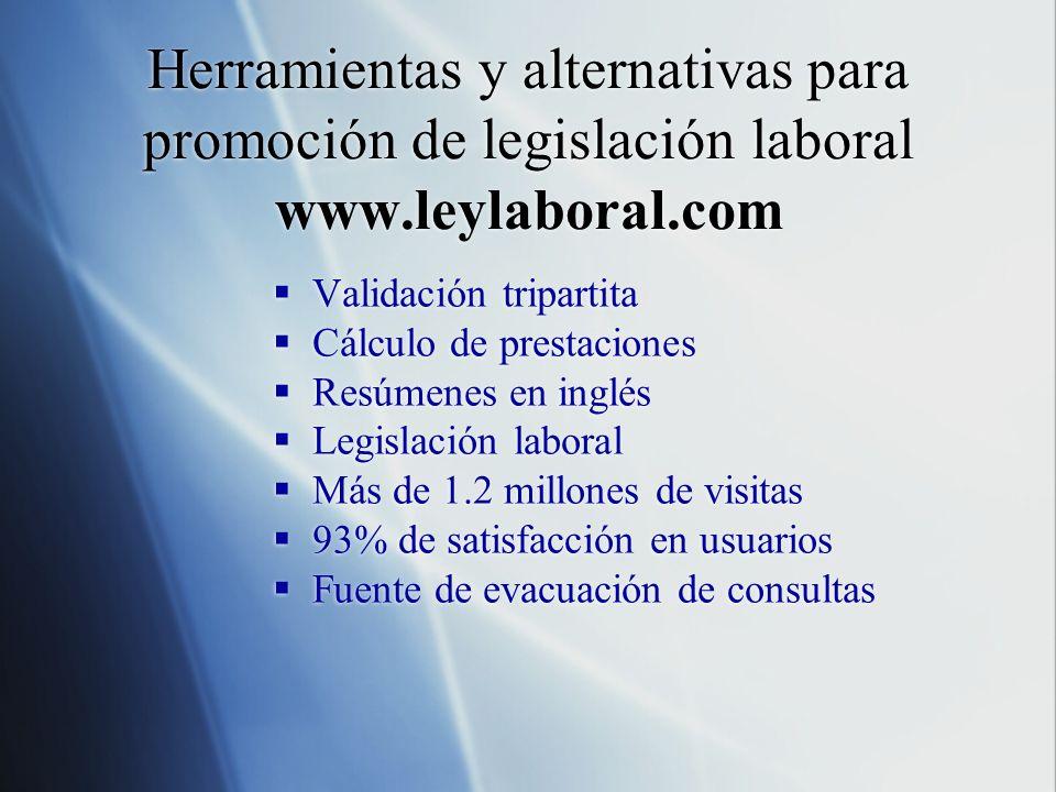 Herramientas y alternativas para promoción de legislación laboral www
