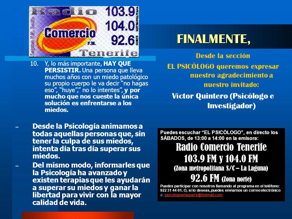 FINALMENTE, Radio Comercio Tenerife 103.9 FM y 104.0 FM