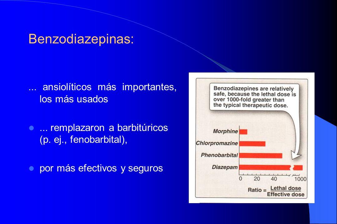 Benzodiazepinas: ... ansiolíticos más importantes, los más usados