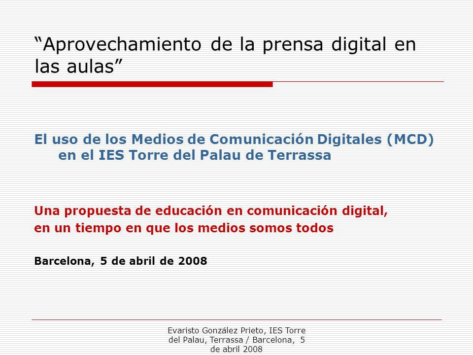 Aprovechamiento de la prensa digital en las aulas