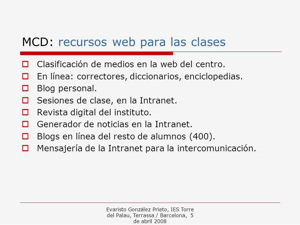 MCD: recursos web para las clases
