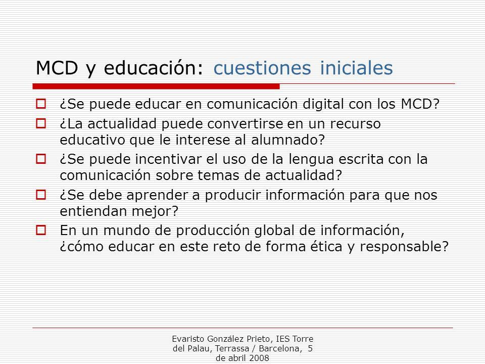 MCD y educación: cuestiones iniciales