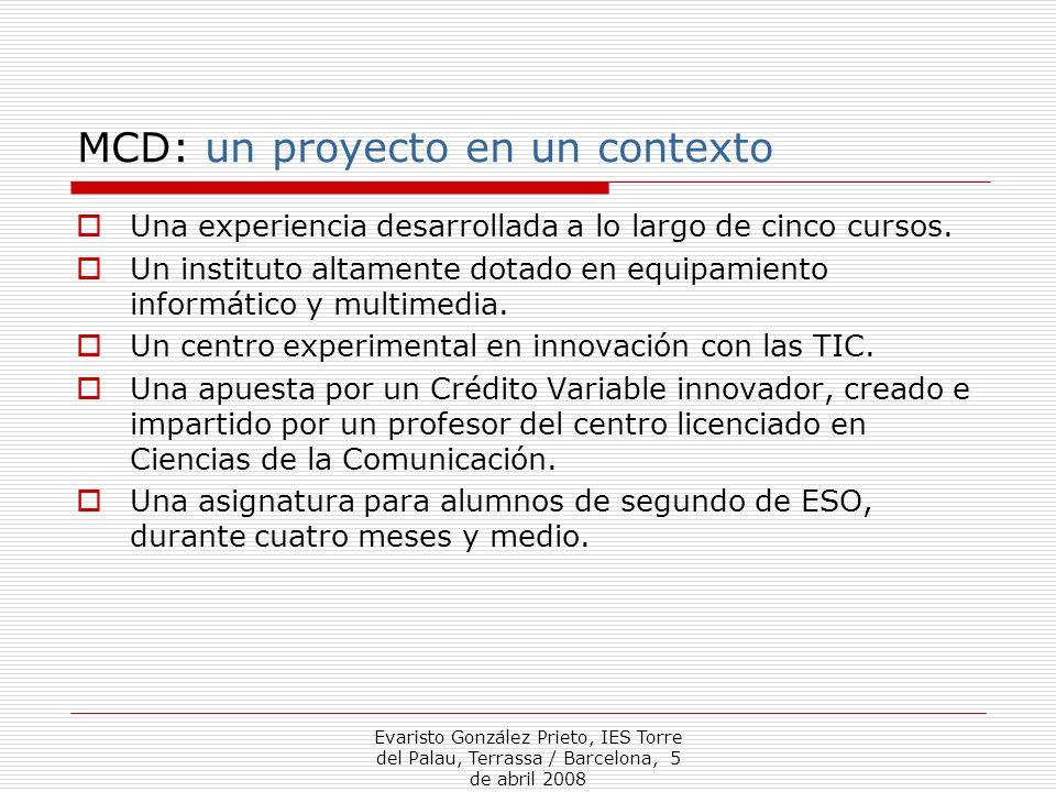 MCD: un proyecto en un contexto