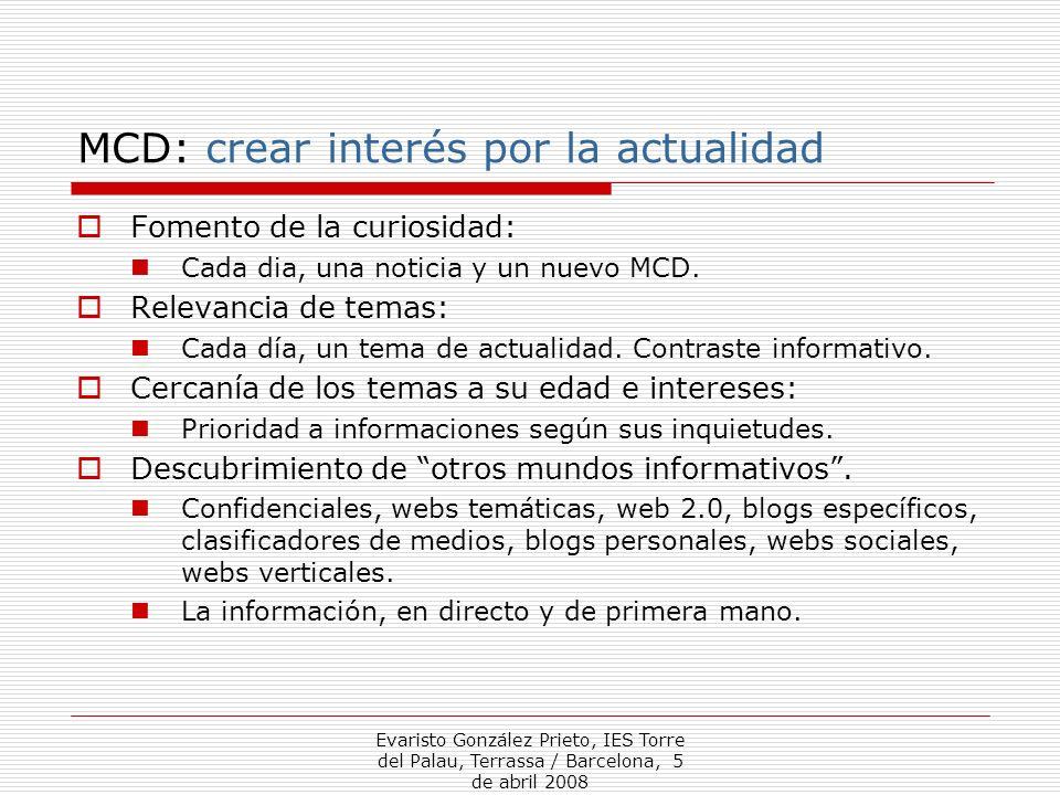 MCD: crear interés por la actualidad
