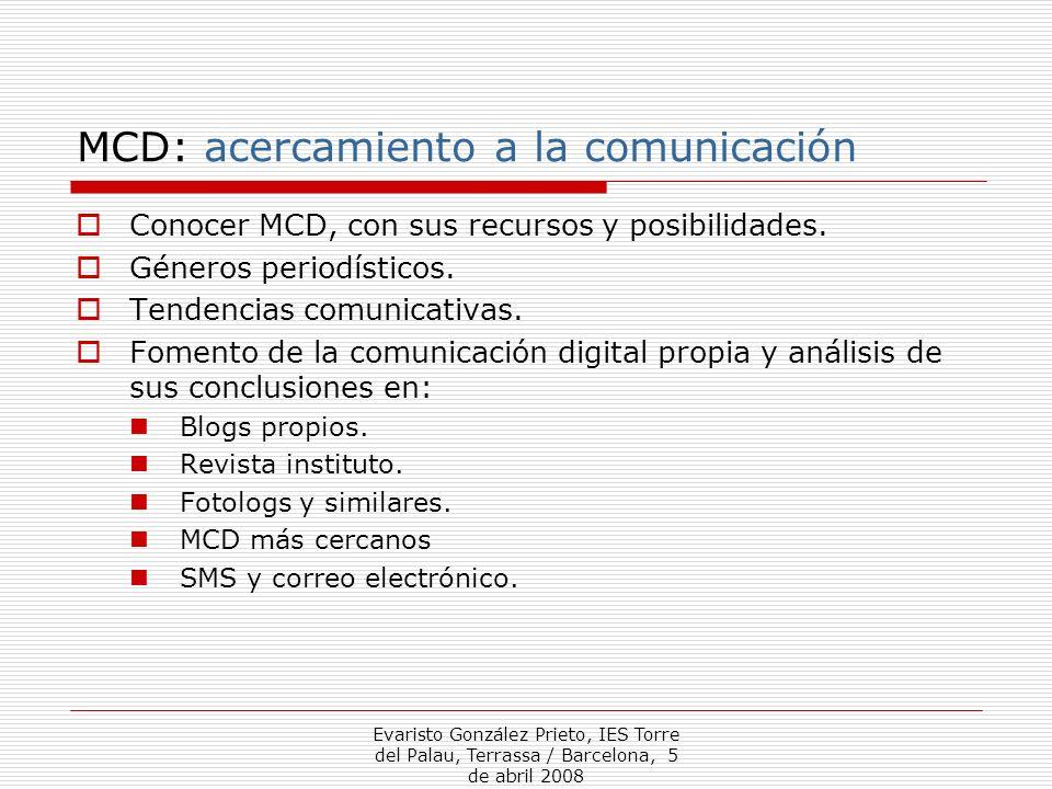 MCD: acercamiento a la comunicación