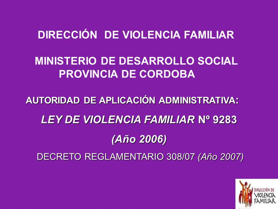 LEY DE VIOLENCIA FAMILIAR Nº 9283