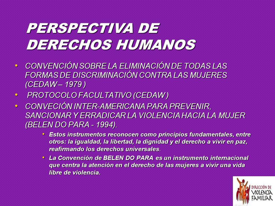 PERSPECTIVA DE DERECHOS HUMANOS