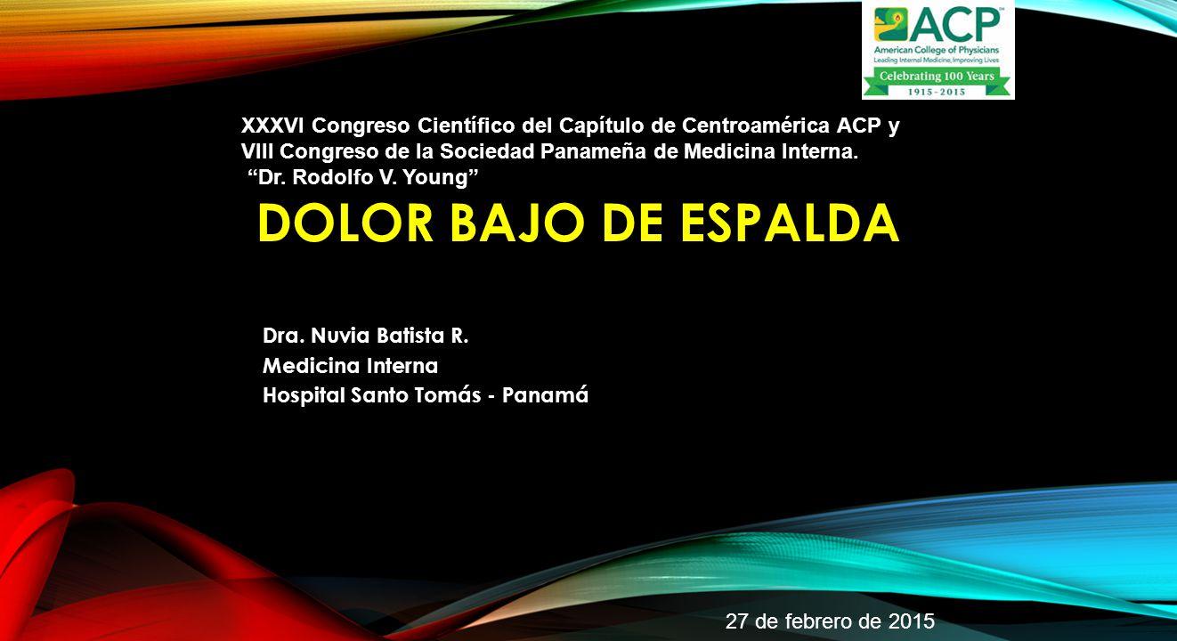 Dra. Nuvia Batista R. Medicina Interna Hospital Santo Tomás - Panamá