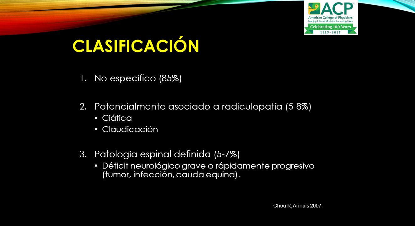 CLASIFICACIÓN No específico (85%)