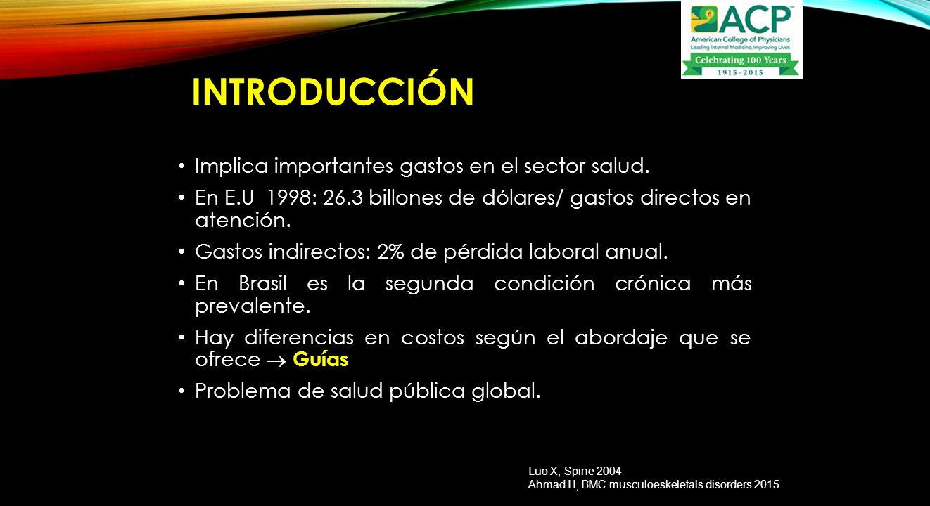 INTRODUCCIÓN Implica importantes gastos en el sector salud.