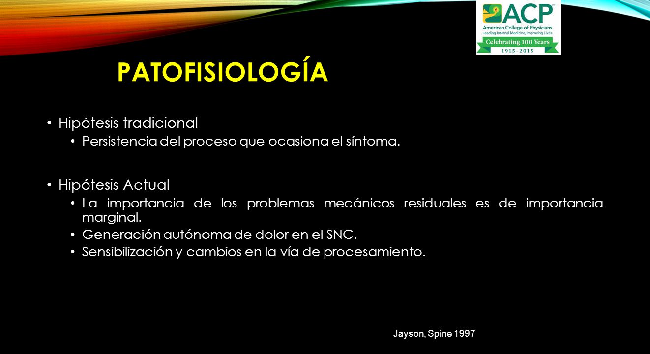 PAtofisiología Hipótesis tradicional Hipótesis Actual
