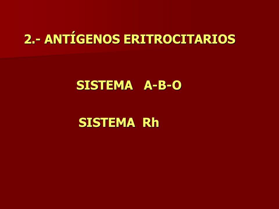 2.- ANTÍGENOS ERITROCITARIOS