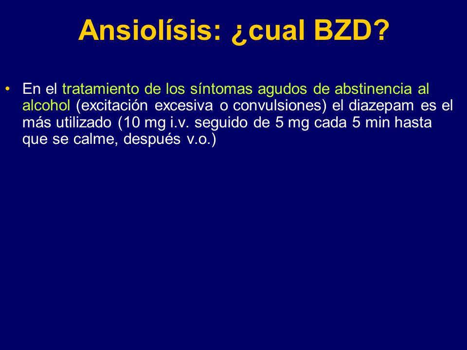 Ansiolísis: ¿cual BZD