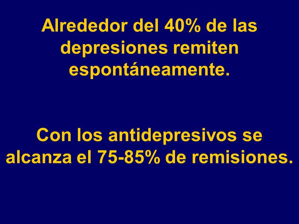 Alrededor del 40% de las depresiones remiten espontáneamente