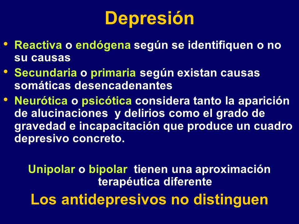 Depresión Los antidepresivos no distinguen