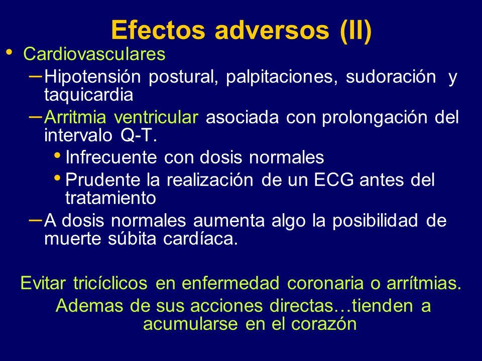 Efectos adversos (II) Cardiovasculares