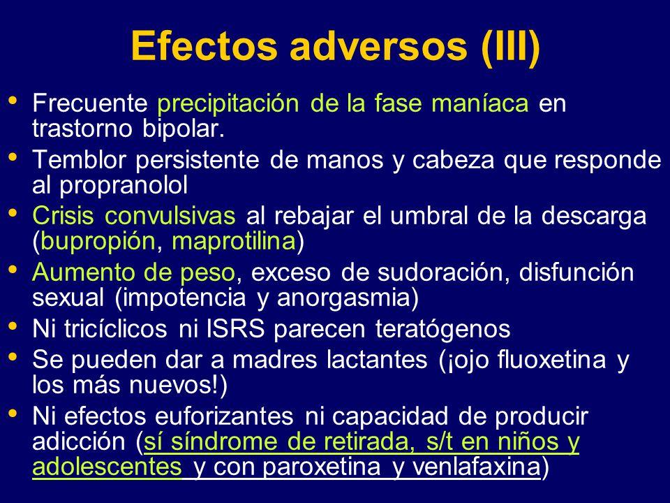 Efectos adversos (III)