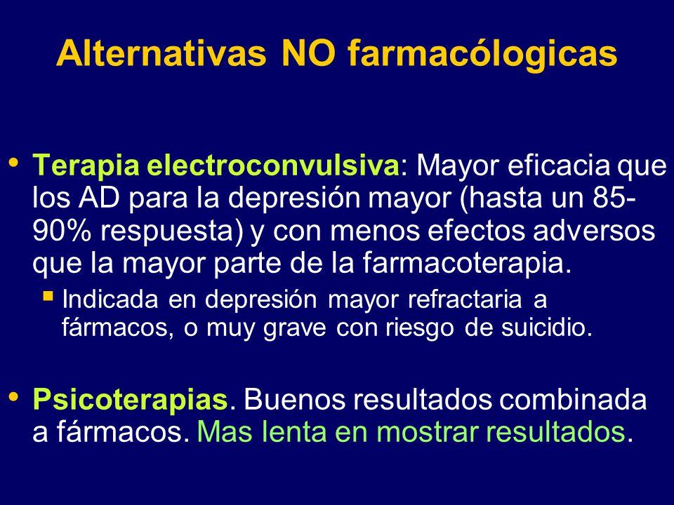 Alternativas NO farmacólogicas