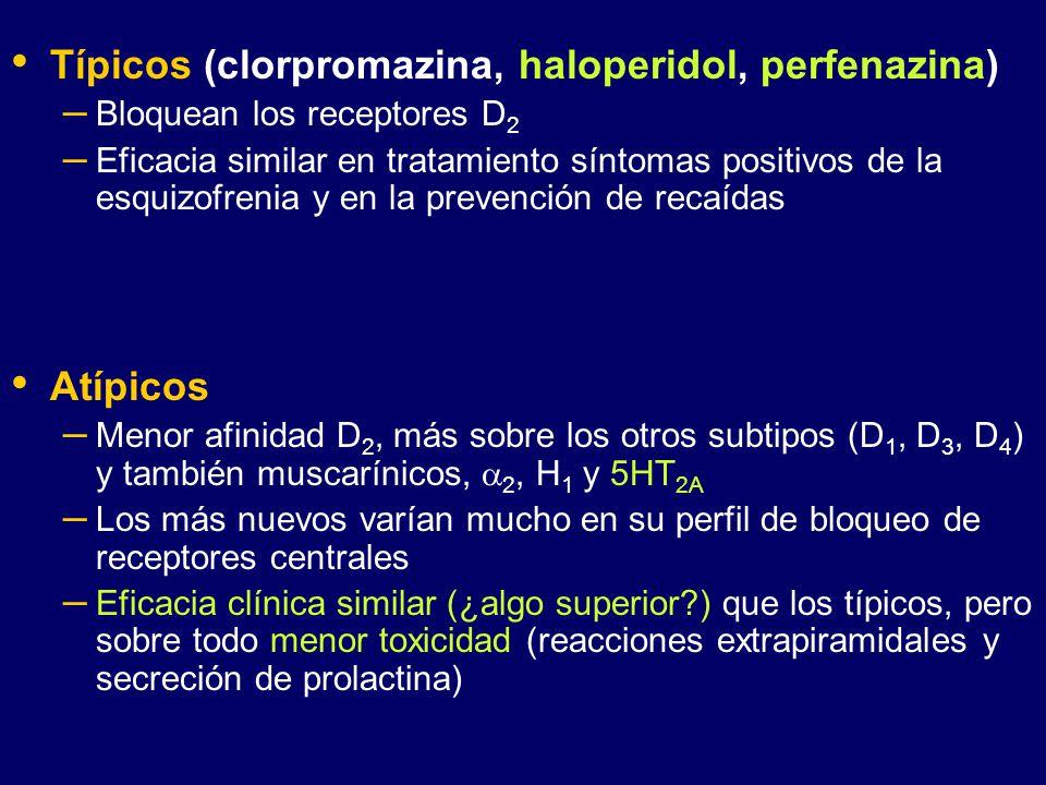 Típicos (clorpromazina, haloperidol, perfenazina)