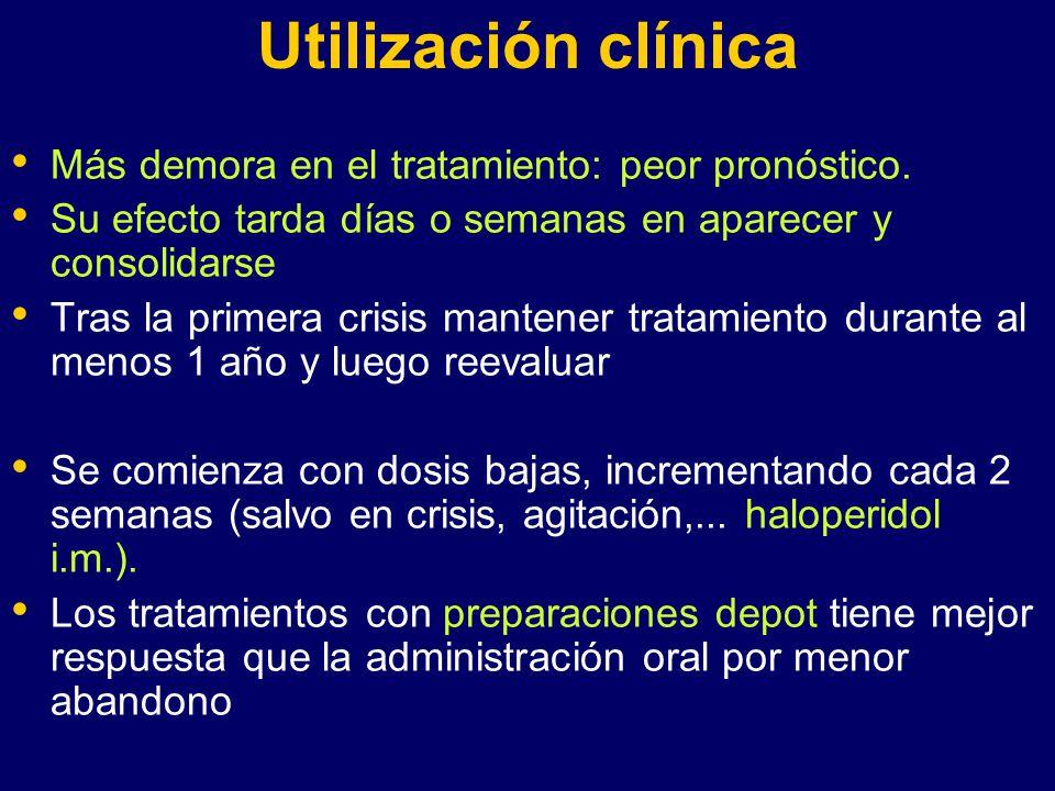 Utilización clínica Más demora en el tratamiento: peor pronóstico.