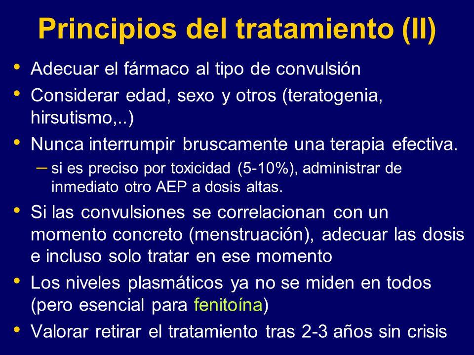 Principios del tratamiento (II)