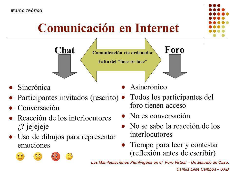 Comunicación en Internet